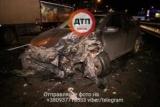 В Киеве произошло тройное ДТП: автомобиль ударил водитель, который пытался помочь пострадавшим